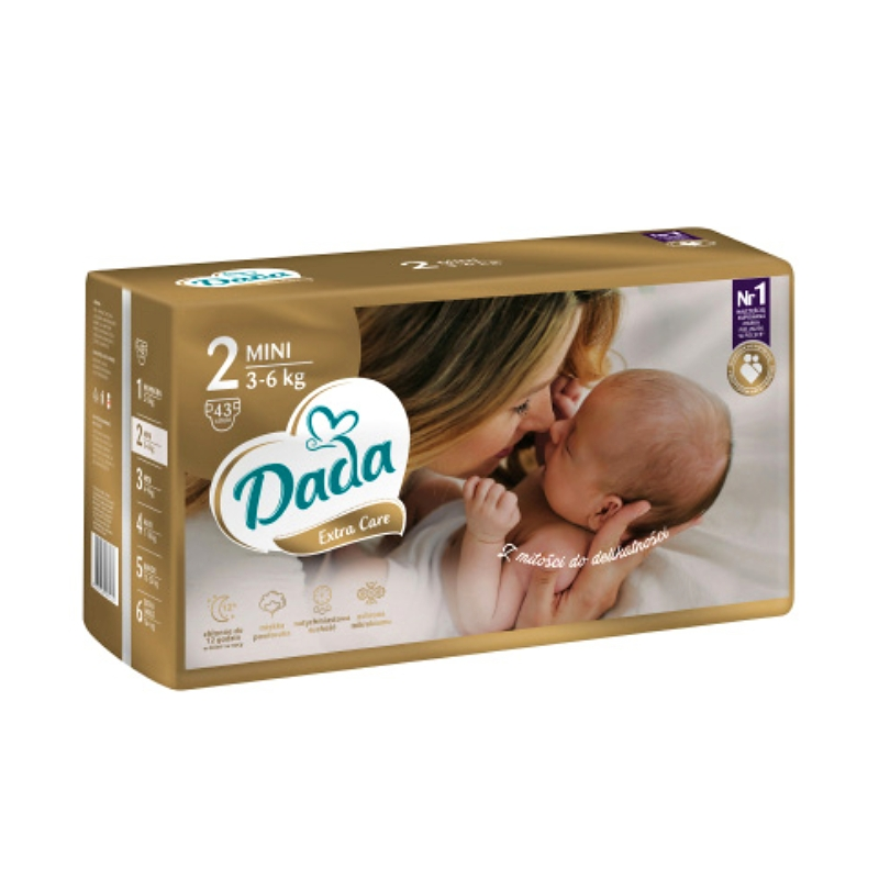 DADA Extra Care vel. 2 MINI (3-6 kg) 43ks