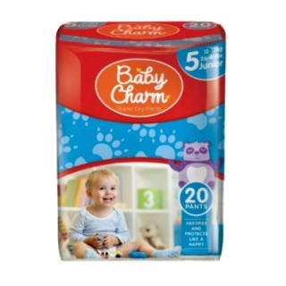 Baby Charm Super dry Pants 5 (12-18 kg) 20 ks