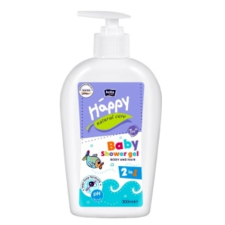 Bella Baby Happy Natural Care mycí gel na tělo a vlasy 300 ml