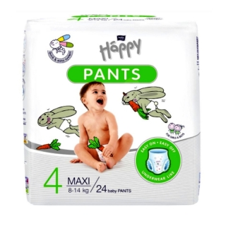Bella Happy Pants 4 Maxi (8-14 kg) 24 ks 24 ks